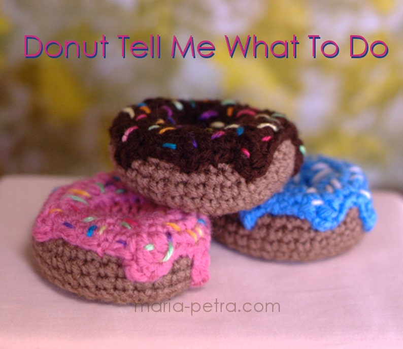 Crochet Donut with Frosting and Sprinkles  Crochet  image 0