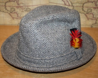 b30680243ed Tweed Fedora Hat - Size Medium - item  2166