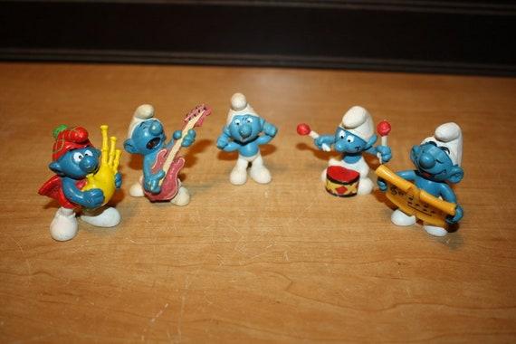 Vintage Smurf Toys Smurf Figurines Set Of 5 Item 3107 6 Etsy