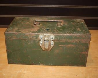 Vintage Metal Storage Box - item #2837