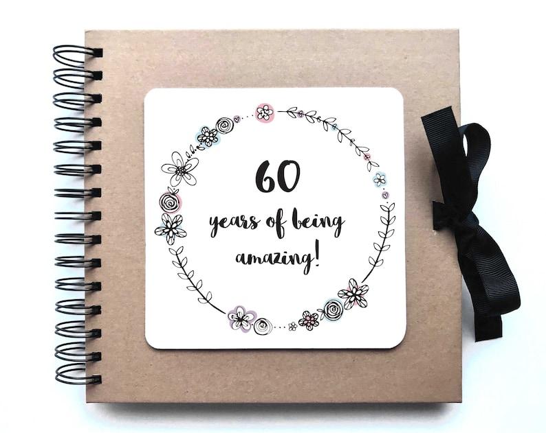 60 Geburtstag Scrapbook Fotoalbum Gästebuch Party 60 Etsy