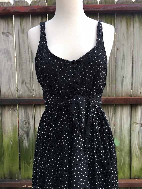 Black & white prairie dress