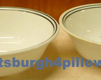 New Listing - Corelle- City Blocks - Soup / Salad Bowls - 6 1/4 - Everyday Use - Wear Around Rim -2 Black Rings- Price Is For Each