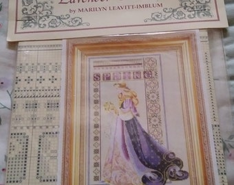 New Listings - Lavender & Lace - All 4 Seasons - Instructions Only - Cross Stitch - Price Is For Each -  State Season - 11 x 17