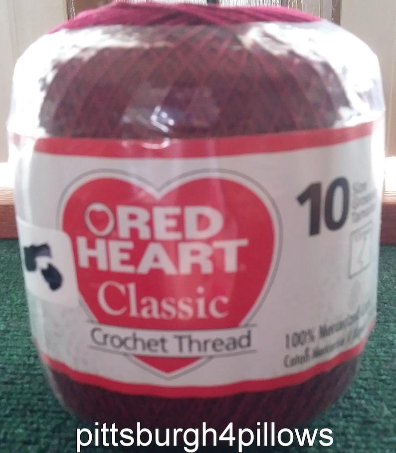 Red Heart Classic Crochet Thread Size 10 Burgandy 0401 Etsy