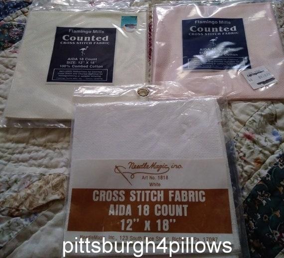 Ivory 18 Count Cross Stitch Aida Fabric 12 x 18 Needle Magic