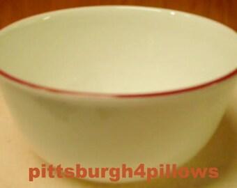 New Listing - Corelle Soup Bowl  - Vitrelle - Red Band - 28 Oz. - EUC
