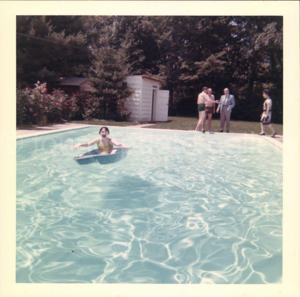 Digital Download Girl In Bathing Suit Swimming Pool Aqua -4370