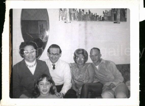 Vintage Foto Family Party Altes Foto Schwarz Weiß Foto Etsy