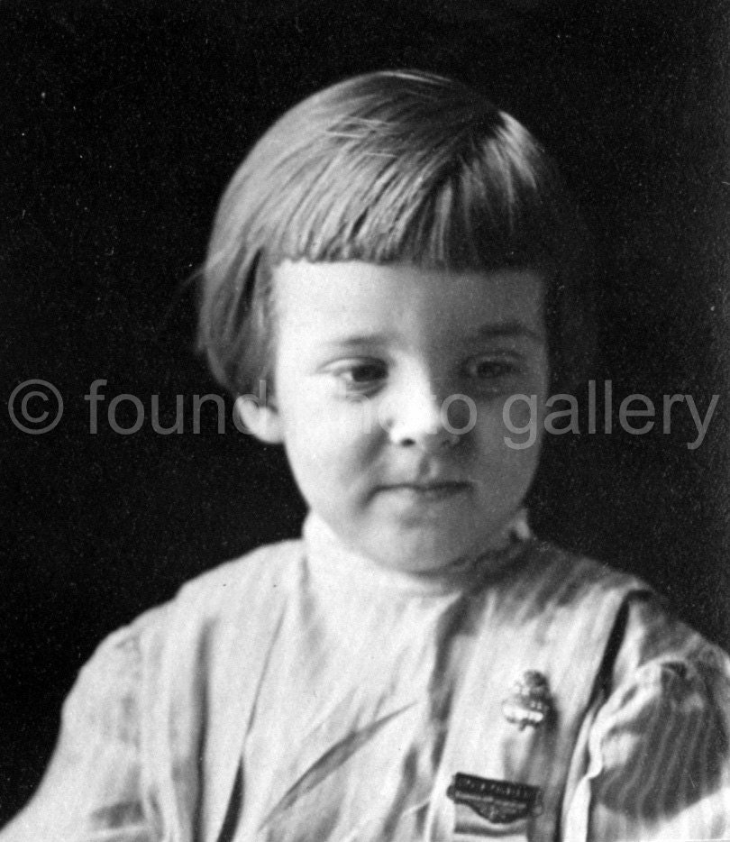 Vintage Photo Boy In Buster Brown Haircut Black White Etsy