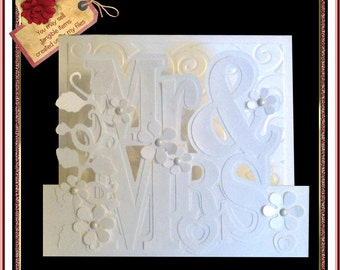 050 Wedding or Anniversary Step Card *Multiple MACHINE Formats*