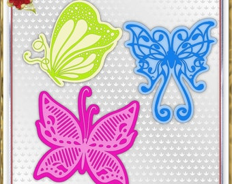 354 3 Gorgeous Butterflies *Multiple MACHINE Formats*