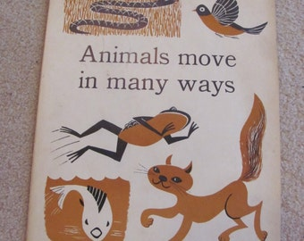 "Poster Vintage Illustrated Large Flash Card Science Chart Poster -- 11"" x 14"" Animals"