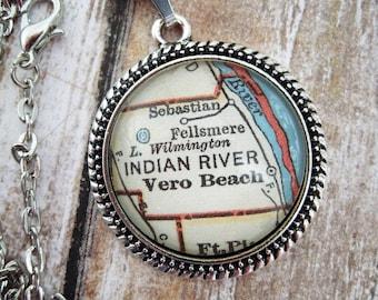 Map Of Vero Beach Florida.Vero Beach Etsy