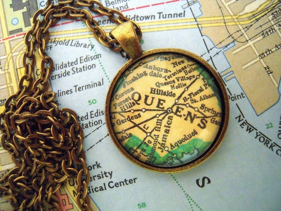 USA Vintage Map Dangle Earrings Unique Unusual Vintage Mum Sister Best Friend Gift jewellery Retro Massachusetts New York San Francisco