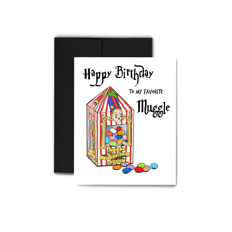 Muggle Birthday Card Harry Potter Greeting