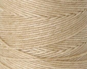Tools & Supplies-3-Ply Irish Linen Cord-Waxed-Natural-Quantity 10 Yards