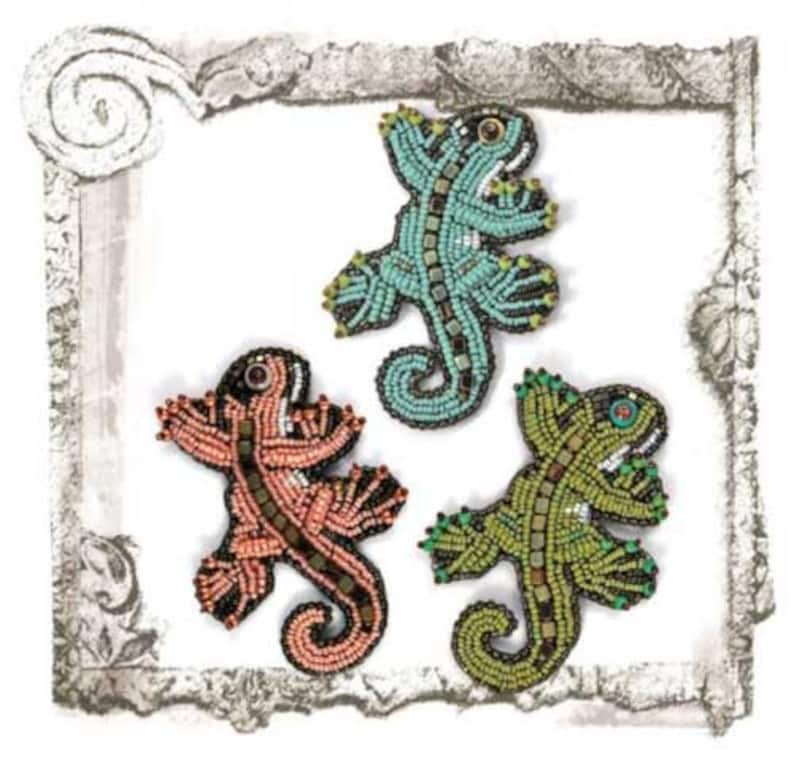 Bead Pattern PDF-Lizzie-Bead Embroidery Pin image 0