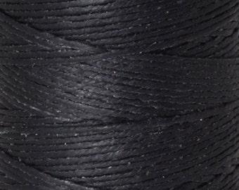 Tools & Supplies-3-Ply Irish Linen Cord-Waxed-Black-Crawford Threads-Quantity 120 Yards