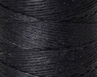 Tools & Supplies-3-Ply Irish Linen Cord-Waxed-Black-Crawford Threads-Quantity 10 Yards