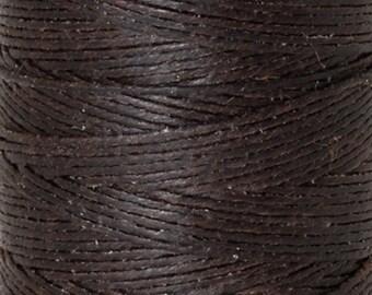 Tools & Supplies-3-Ply Irish Linen Cord-Waxed-Dark Chocolate-Crawford Threads-Quantity 120 Yards