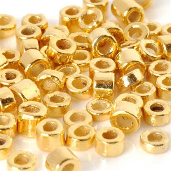 Ceramic Beads-3mm Tube-Burnt Umber-5 Grams