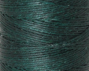 Tools & Supplies-3-Ply Irish Linen Cord-Waxed-Dark Forest Green-Crawford Threads-Quantity 120 Yards
