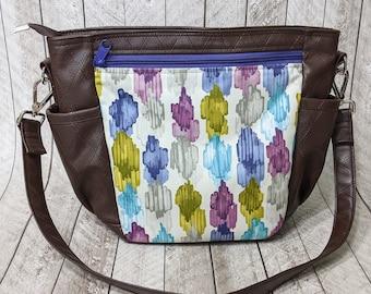 Clearance slouchy zipper shoulder bag