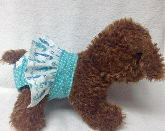 Female Dog Diaper Bitch Britches Girl Pet Panties Wrap Puppy Training Pants Skirt Size XSmall Small Or Medium Sheep Fabric
