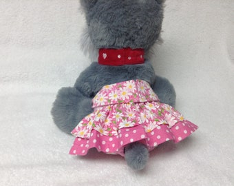 Female Dog Diaper Britches Pet  Panties Wrap Skirt Size XSmall To 5XLarge  Daisy Fabric Many Colors