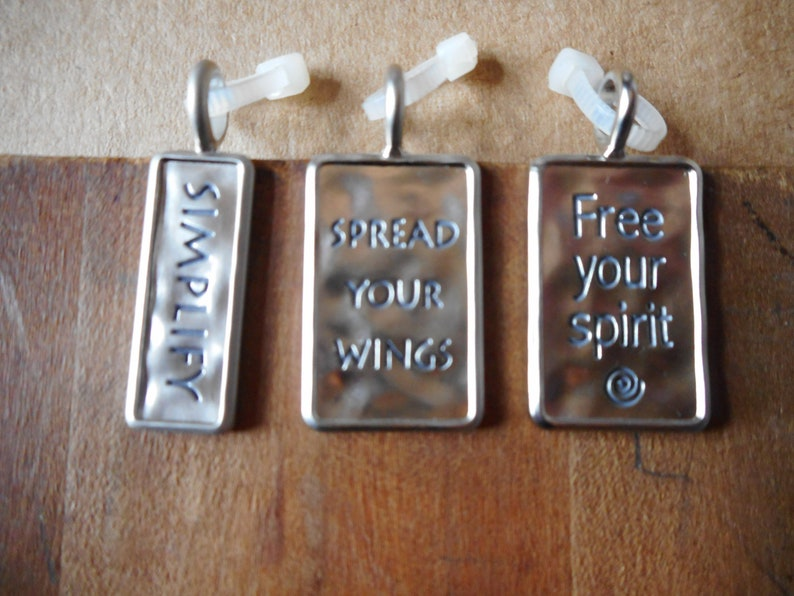 Charms set of three new Simplify Free Your Spirit and Spread your Wings necklace bracelet