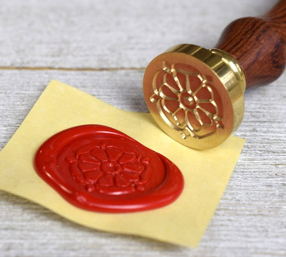 Tudor Rose Wax Seal Stamp Classic Royal Seal Brass Stamp Etsy
