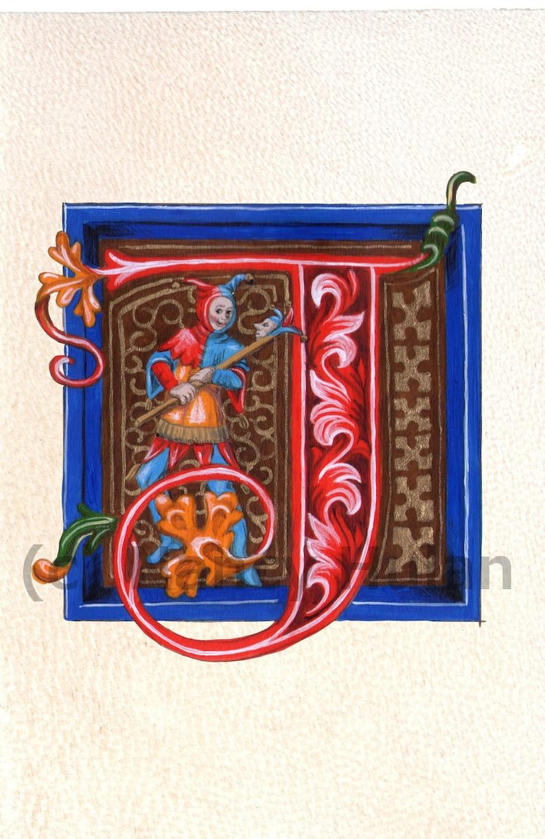 Alphabet Letter J Medieval Illuminated Letter J Painted | Etsy