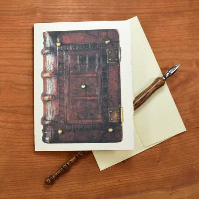 Old Book Note Cards, Set of 12 Cards and Envelopes, Gift for Librarian or Bibliophile