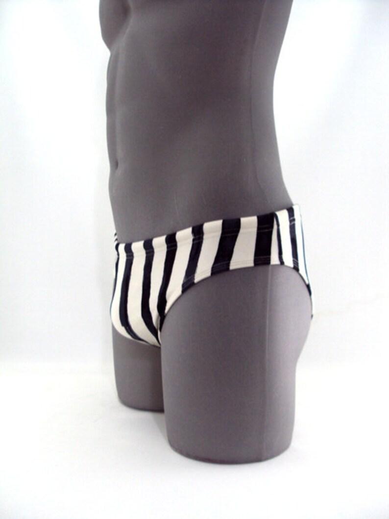 Black Bars Men Swimsuit-Print swimwear-Men Bathing Suit-Swimwear-Swimsuit-Bathing Suit