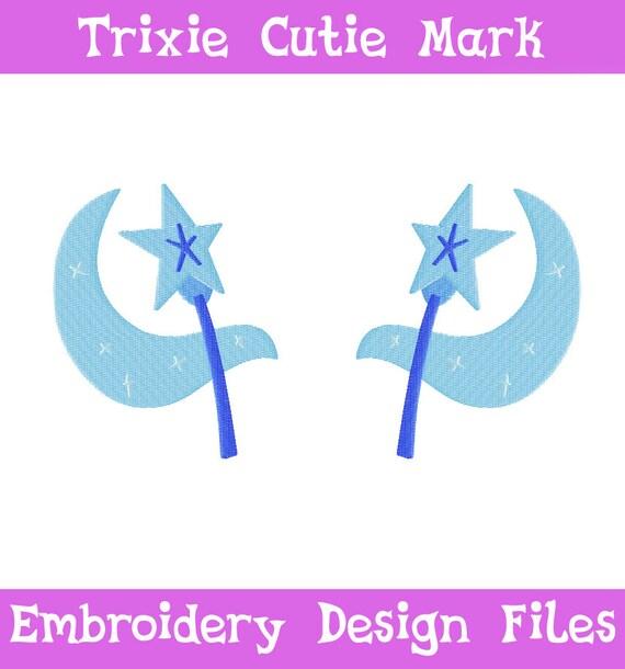 PES FILES: Trixie Cutie Mark - Embroidery Machine Design