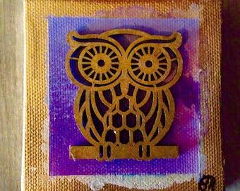 3x3 Original Canvas Mini Painting