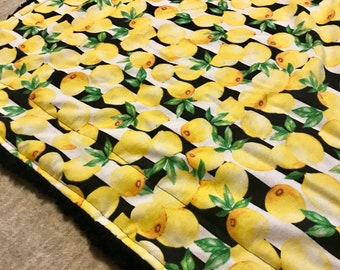 Lemon Throw Large Throw Blanket Sherpa Fleece Plush Black White Yellow Soft Quilt Bedding Twin Full Queen Pillow