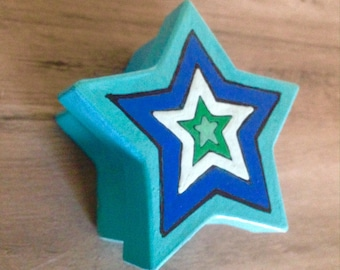 25 Bulk Painted Paper Mache Star Boxes without Designs- Custom Party Birthday Bridal Groom Party Gifts Wedding