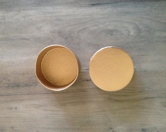 1 Painted Paper Mache Circular Box Gold Customize Wedding Party Gift Jewelry Anniversary