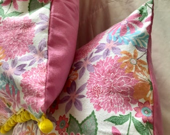Blanket Comforter Throw Flowers Pink Yellow Floral Plants Colorful Soft Quilt Bedding Twin Full Queen Pillow