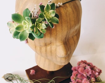 Succulent Bridal Halo // Succulent Crown // Flower Crown