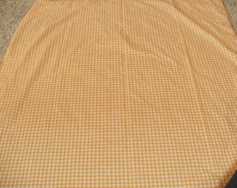 Vintage Orange and White Gingham Check Table Cloth