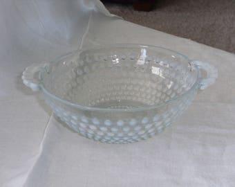 Vintage Moonstone Handled Bowl