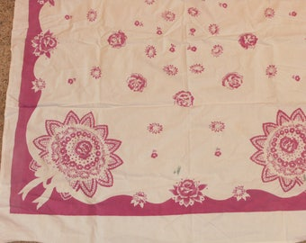 Vintage Plum colored Tablecloth