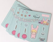 Bunnygirl Toy Packaging Sticker