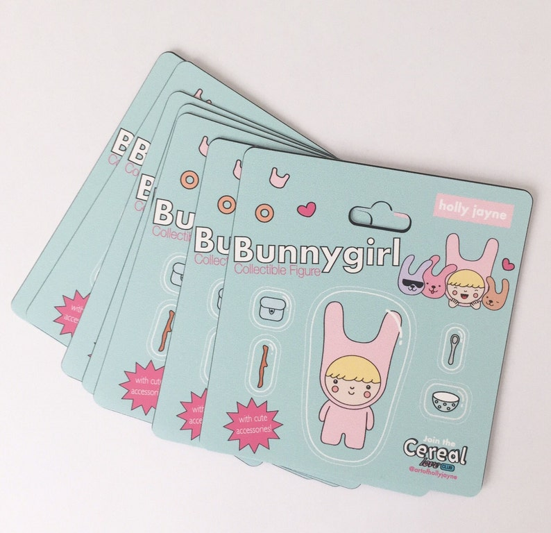 Bunnygirl Toy Packaging Sticker image 1