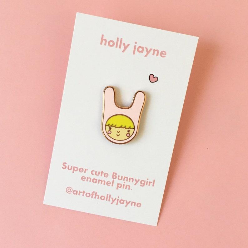 Bunnygirl Enamel Pin image 0