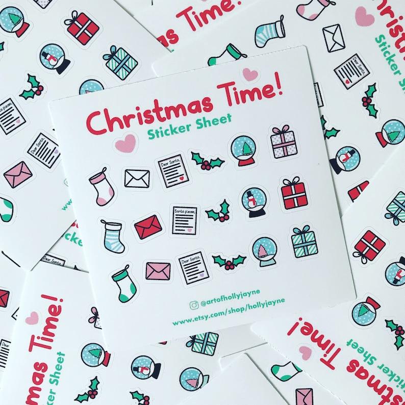 Christmas Time Sticker Sheet image 0