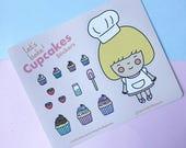 Let's Bake Cupcakes Sticker Sheet